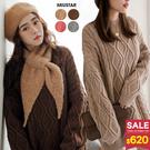 1203 厚實保暖!特殊造型立體麻花針織上衣,舒適柔軟有彈性!