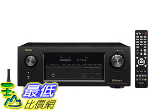 [7美國直購] Denon AVRX3400H 7.2 Channel Full 4K Ultra HD Network AV Receiver with HEOS black, Works with Alexa