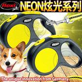 【zoo 寵物商城】德國Flexi 飛萊希》炫光系列索狀牽繩XS 8kg 3m