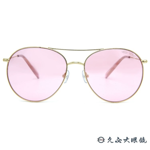 VEDI VERO 墨鏡 VE787K PK (金) 雙槓 圓框 太陽眼鏡 久必大眼鏡