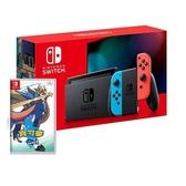 任天堂 Switch 紅藍主機 (電池加強版)+精靈寶可夢劍中文版