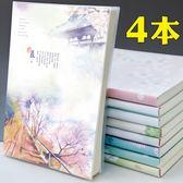 筆記本文具本子小清新大學生加厚韓國創意簡約記事日記膠套本