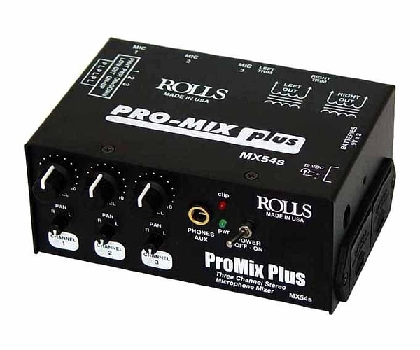 音響世界。美國ROLLS MX54S ProMix三軌可攜式專業混音器 -- Made in USA