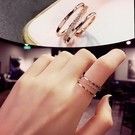 開口可調節韓版戒指女個性時尚簡約網紅冷淡風食指環裝飾品ins潮 嬌糖小屋