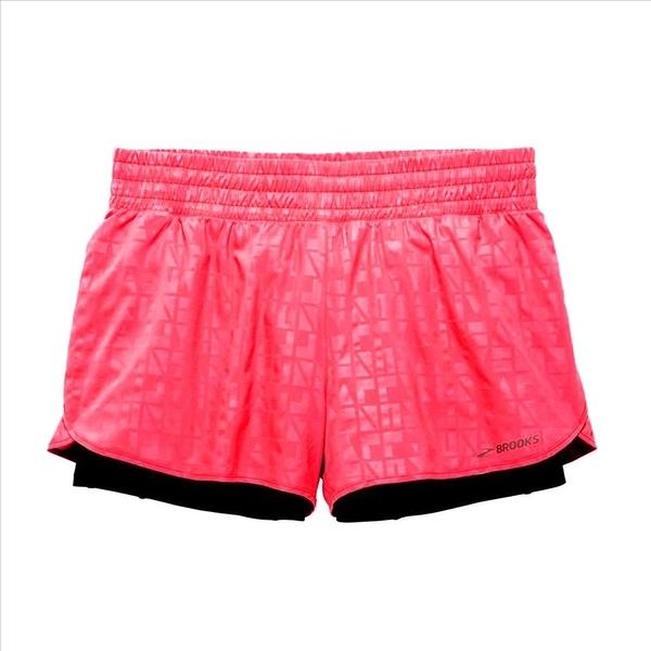 樂買網【BROOKS】18SS 女款 Circuit 環行系列 二合一運動短褲 3吋 粉紅 221257651
