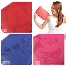 【Disney】7~8吋通用質感壓紋夾勾式平板皮套