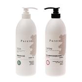 (組)Purete抗屑止癢咖啡因玫瑰洗髮精x1綠茶碳酸沐浴精x1