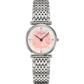 LONGINES 浪琴 La Grande 新嘉嵐粉彩系列鑲鑽女錶-粉/29mm L45124246