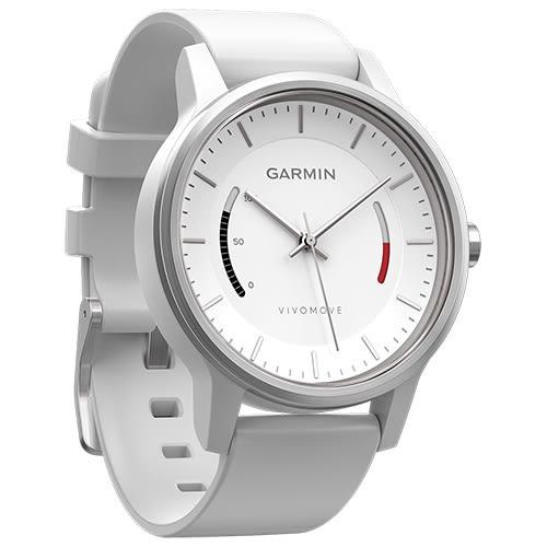 GARMIN vivomove 智慧指針式 腕錶 SPORT 運動風-白色(全新公司貨,現貨供應)
