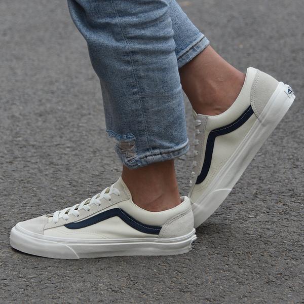 IMPACT Vans Style 36 Old Skool 白 藍 藍線 滑板鞋 GD著用款 VN0A3DZ3KE6