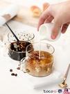 熱賣玻璃杯 高顏值家用高硼硅耐熱高溫透明玻璃杯子平底帶把咖啡杯女水杯 coco