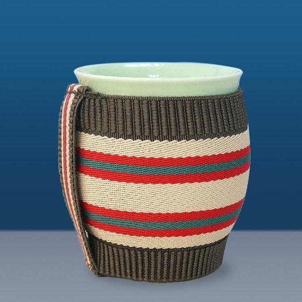 艾灸杯雙層艾灸罐陶瓷刮痧杯扶艾灸盒隨身灸陽溫灸器懸灸儀魔灸罐 初語生活館