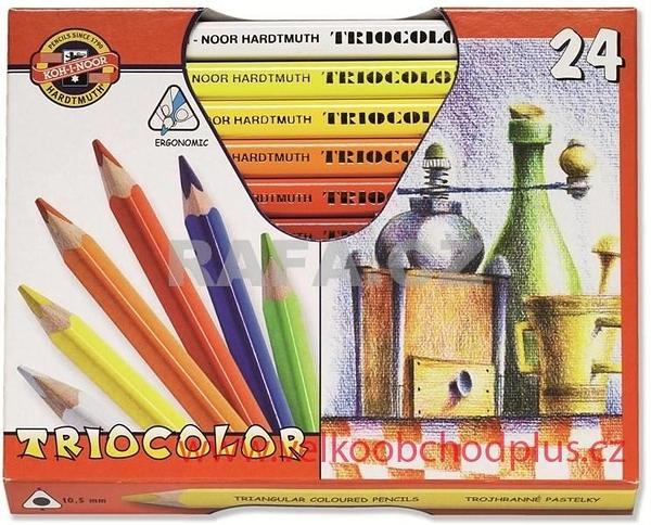 捷克製KOH-I-NOR三角形彩色筆桿鉛筆24色組合*3154