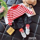 兒童毛衣針織衫女童新款春秋韓版男小童薄款洋氣毛衣套頭兒童寶寶上衣  朵拉朵衣櫥