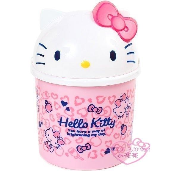 小花花日本精品♥ Hello Kitty大臉頭立體造型粉紅桌上型 置物桶 垃圾桶 車用垃圾桶88936505