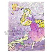 〔小禮堂〕迪士尼 長髮公主 日製亮片硬墊板《B5.紫.跳舞》學童文具.桌墊 4901770-57138