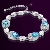 手鍊 925純銀水晶銀飾-優雅高貴生日情人節禮物女手鏈2色73ak55【時尚巴黎】