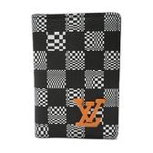 一口價 LOUIS VUITTON LV 路易威登 黑白棋盤格紋卡夾 POCKET ORGANIZER M80170