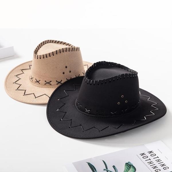 牛仔帽美國西部牛仔帽子女夏天男士遮陽親子帽舞臺演出帽兒童牛仔帽潮 漫步雲端
