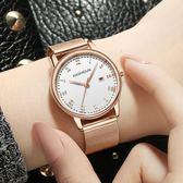 手錶女學生女士手錶休閒石英錶防水時尚潮流絲帶女錶韓腕錶