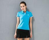 【MJ3】質感配色短袖吸排涼感POLO衫-女(三色可選) 短袖 排汗衫 休閒 運動 網球 高爾夫 台灣製