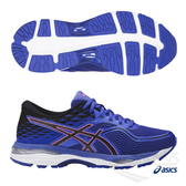ASICS亞瑟士 女慢跑鞋 (藍) GEL-CUMULUS 19 (D) 寬楦 包覆性.高緩衝慢跑鞋款 T7B9N-4890【 胖媛的店 】