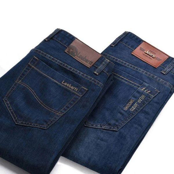 牛仔褲男寬鬆直筒休閒中年厚款男裝高腰大碼【聚寶屋】