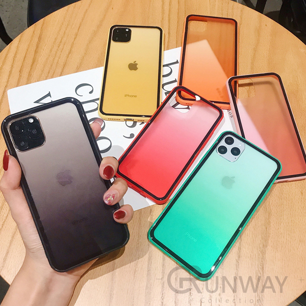 iPhone 7 8 SE2 X Xs MAX 11 11pro XR 鋼化 玻璃 防摔 韓系 漸變 色彩 保護殼 手機殼