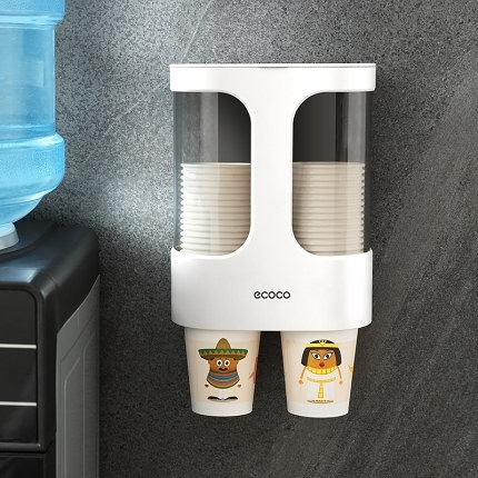 取杯器 一次性杯子架自動取杯器紙杯架掛壁式家用飲水機放水杯的置物架子T