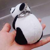 熊貓掛件男背包鑰匙扣毛絨公仔包包掛飾
