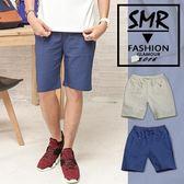 短褲-抽繩麻紗短褲-簡約風鬆緊設計款式《9996DK1》白色.淺藍色共2色【現貨+預購】『SMR』