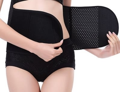 中型中款背部調節鬆緊粘美體腰封-mov1006