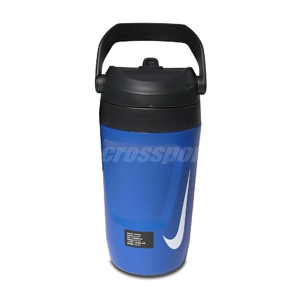 Nike 霸水壺 Fuel Jug 64OZ 藍 白 大容量 手提 運動 旅遊 1893ml【ACS】 N000001341-4OS N000001341-4OS