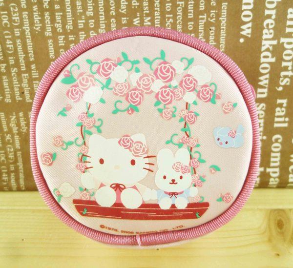 【震撼精品百貨】Hello Kitty 凱蒂貓-圓零錢包-粉玫瑰