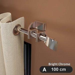 翱翔鷹翼 流線造型金屬窗簾桿套件組 (100cm) #GCZH021