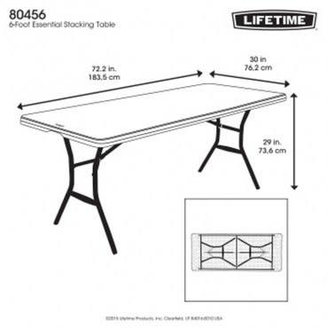 Lifetime折疊長方桌 白色 塑膠 美國品牌 可折半 好收納 超強度耐用