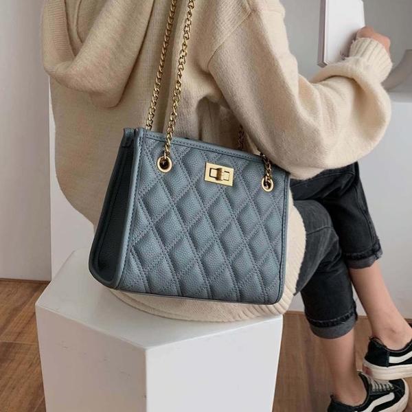 側背包高級感包包上新質感小包女包新款潮時尚錬條單肩包洋氣側背包