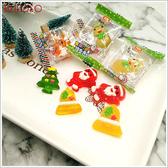 《不囉唆》聖誕Q皮糖 無糖粉 1公斤 (不挑色/款) QQ糖 水果軟糖 造型軟糖 零食【A432560】