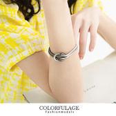手鍊 獨特雙色層次感打結手環 個性甜美時尚 柒彩年代【NA237】約會必搭小物