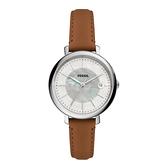 FOSSIL 知性優美日期時尚腕錶-銀X咖啡
