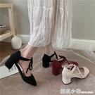 高跟鞋女夏季新款涼鞋休閒百搭性感氣質法式網紅粗跟單鞋ins 蘇菲小店