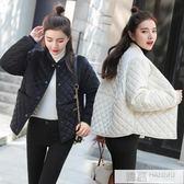 棉服女2019新款金絲絨寬鬆加厚棉襖短款韓版冬季棉衣外套潮 韓慕精品