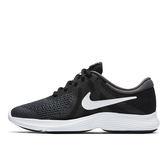 Nike Revolution 4 GS 黑 白 女鞋 大童鞋 慢跑鞋 休閒運動鞋 路跑鞋 943309006