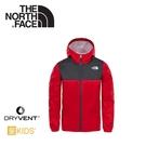 【The North Face 男童 DryVent防水外套《火紅/瀝灰》】AQRC/防風外套/透氣/輕量