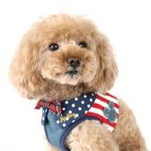 【PET PARADISE 寵物精品】DISNEY 米奇牛仔拼接胸背帶【3S】 寵物胸背帶