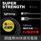 GS.Shop 騰緯 鋼鐵魚絲線 1.8米 Lightning iPhone X/7/8 Plus iPad充電線傳輸線