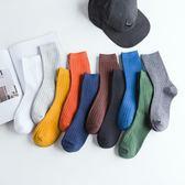 全館85折長襪子男潮ins夏季薄款中筒襪黑色長筒純棉防臭吸汗純色男士高幫