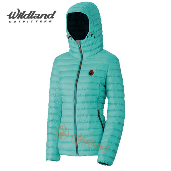 荒野Wildland 700FP連帽輕量羽絨外套 防風/保暖羽絨大衣//羽絨服 (湖水綠)(0A32111-67) 女~特惠5折