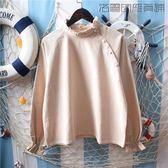 【618好康又一發】復古小清新木耳邊棉麻長袖襯衫