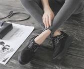 牛津鞋-韩版春秋新款小皮鞋女平底学生百搭系带单鞋英伦风复古牛津鞋花間公主